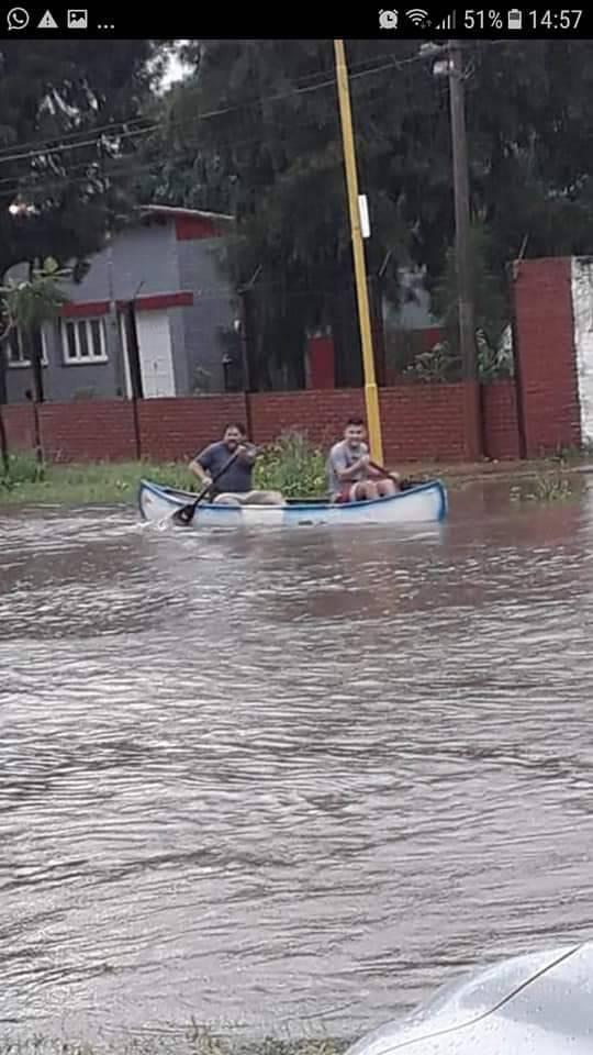 Tostado: lluvia e inundación