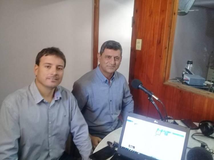Entrevista al intendente Enrique Mualem y al pre candidato a Senador Mario Rmos