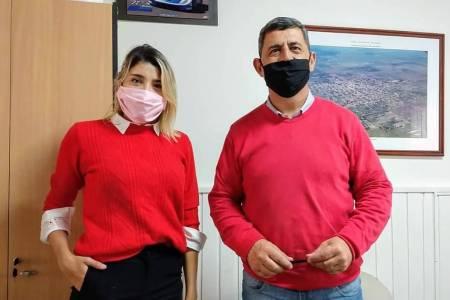 Reunión entre el Intendente de Tostado y la Gerenta de la ANSES